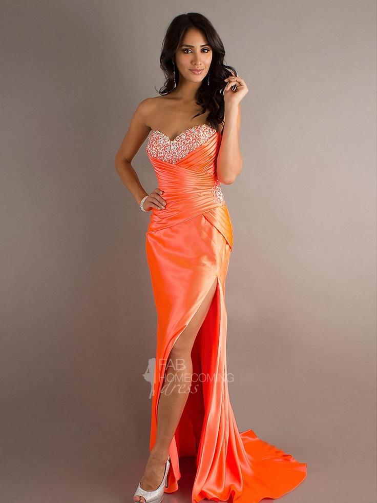 orange evening dresses photo - 1