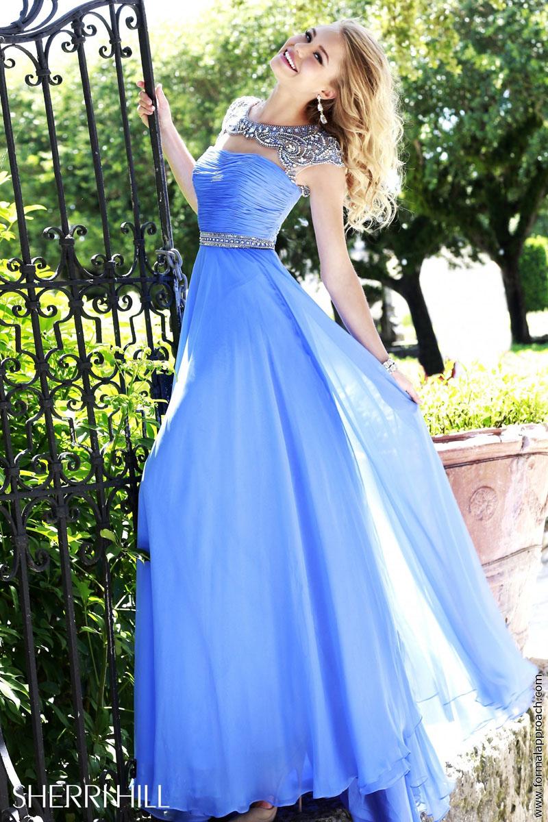 periwinkle evening dress photo - 1