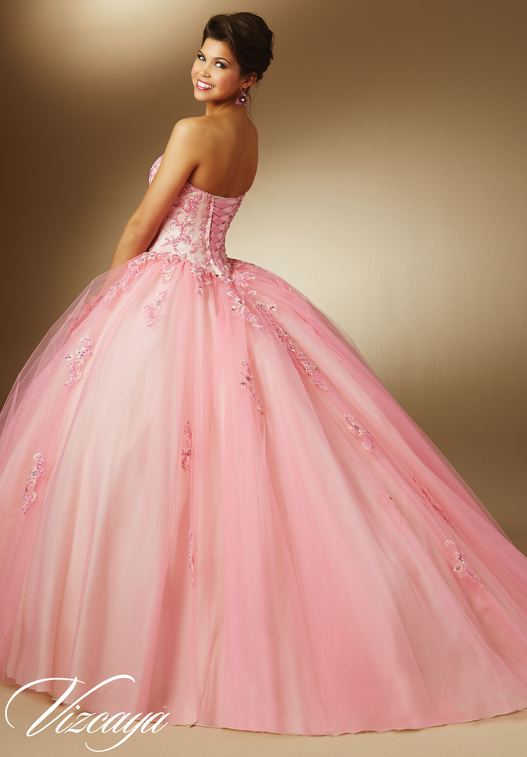 pink evening dresses plus size photo - 1