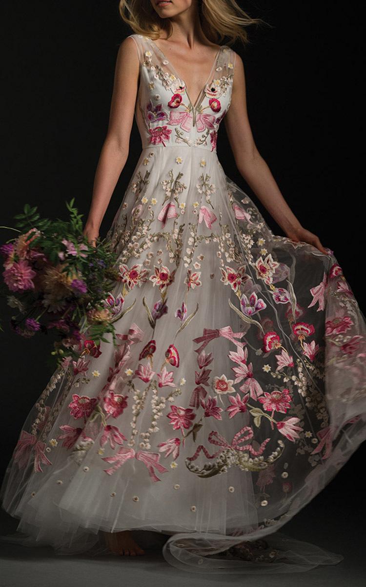 plus size elegant dresses for wedding photo - 1