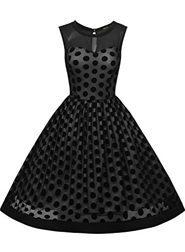 polka dot evening dress photo - 1