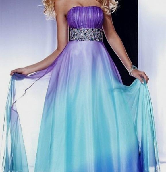 purple elegant dresses photo - 1