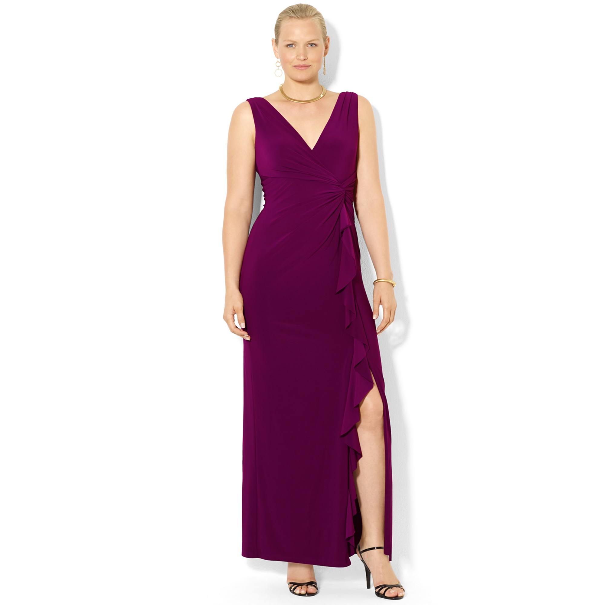 ralph lauren plus size evening dresses photo - 1