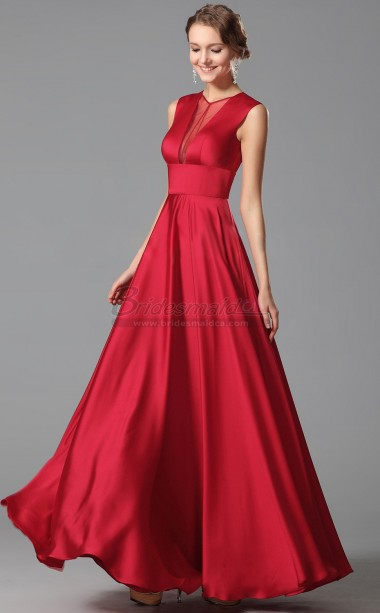 red and white evening dress photo - 1