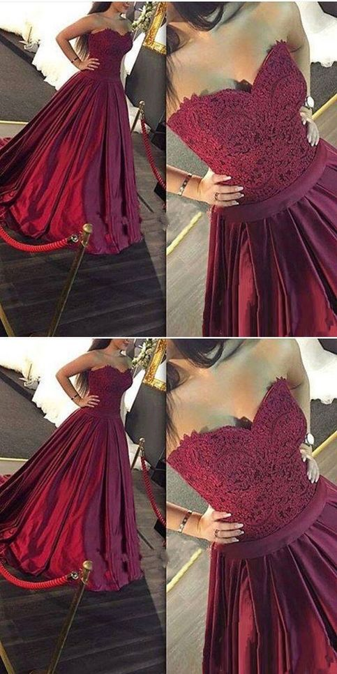 red satin evening dress photo - 1