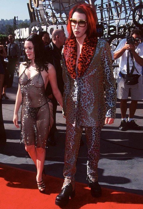 rose mcgowan red carpet dress photo - 1