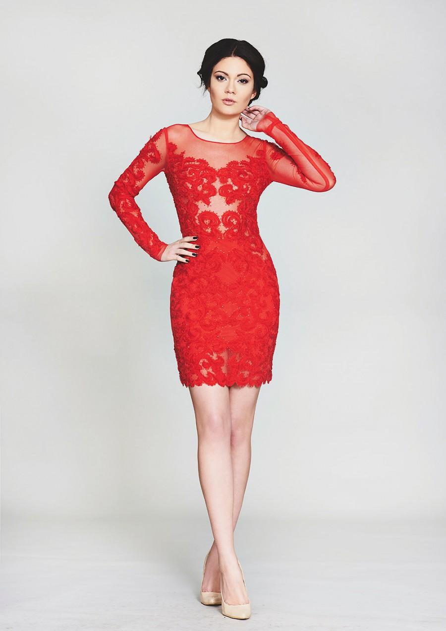 short red evening dresses photo - 1