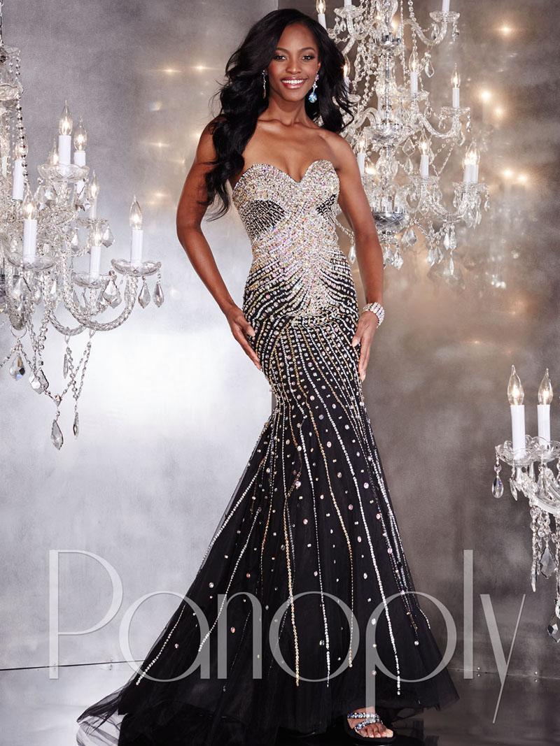 silver evening dress photo - 1