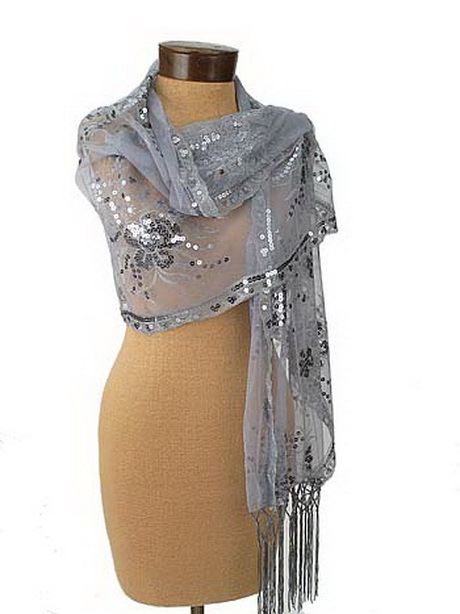 silver wraps for evening dresses photo - 1