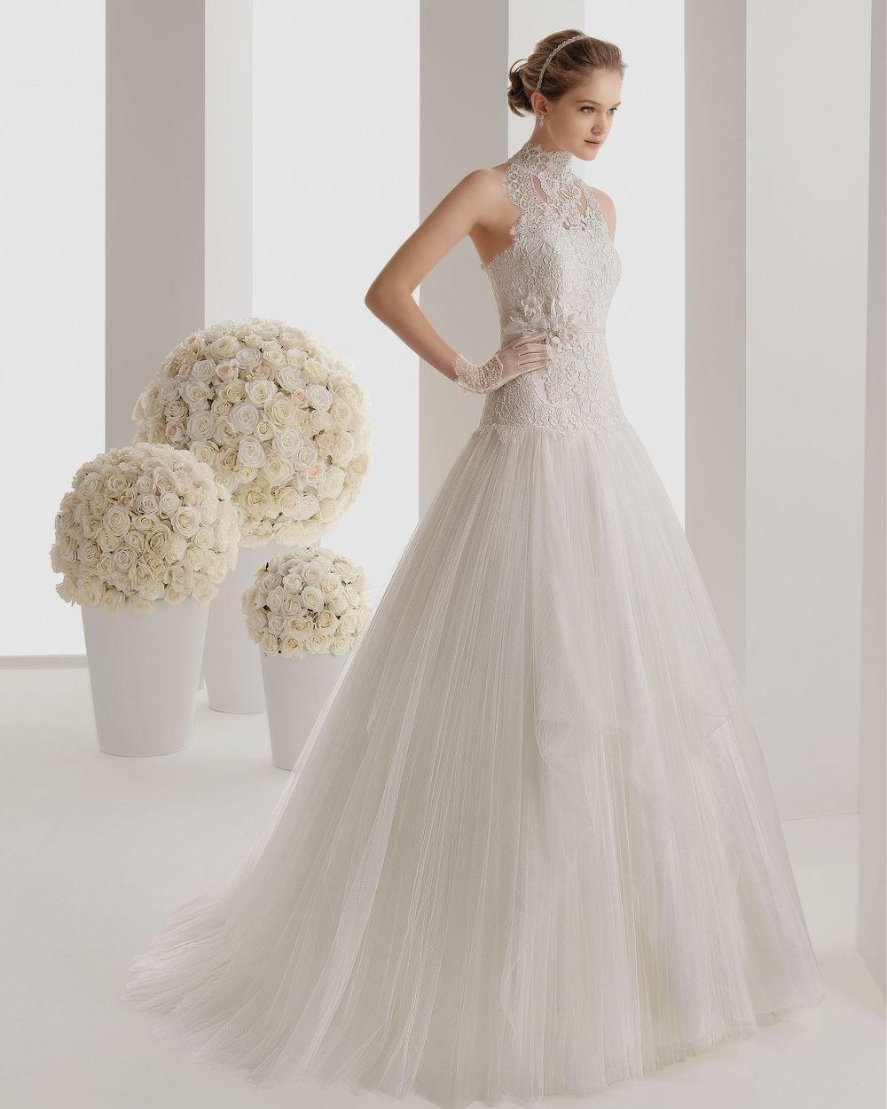 simple and elegant wedding dresses photo - 1