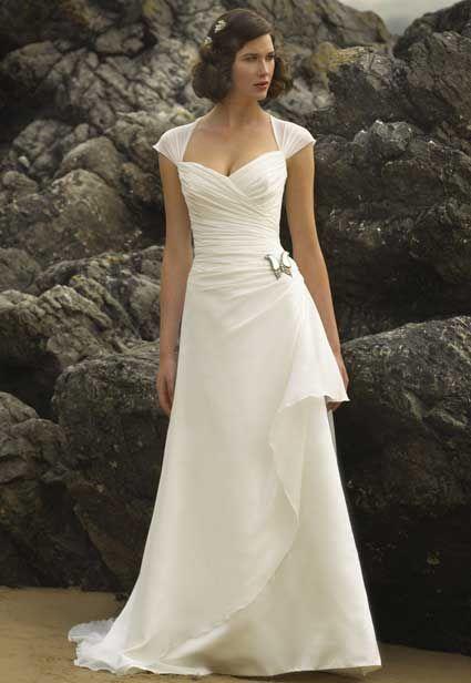 simple elegant wedding dresses for older brides photo - 1
