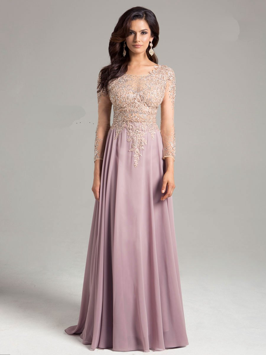 sleeves evening dresses photo - 1