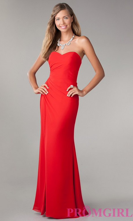 strapless evening dress photo - 1