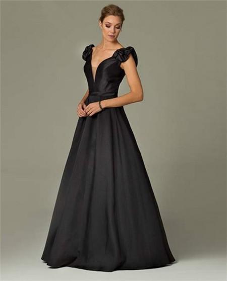 taffeta evening dresses photo - 1