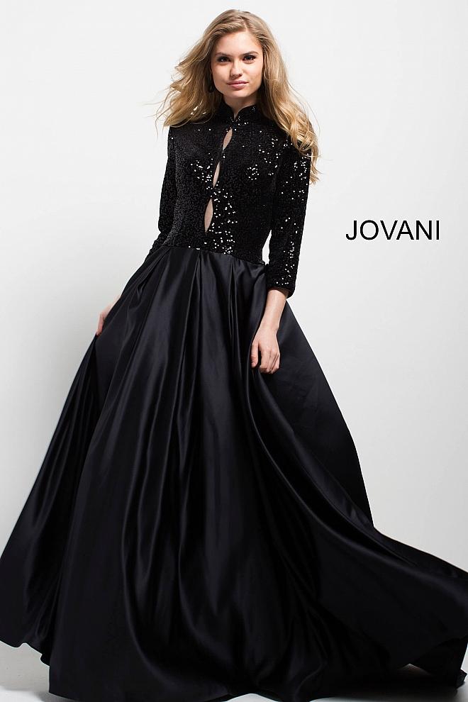 three quarter sleeve evening dresses photo - 1