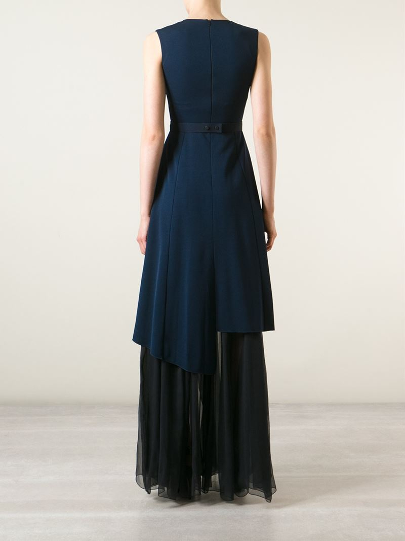 tiered evening dress photo - 1