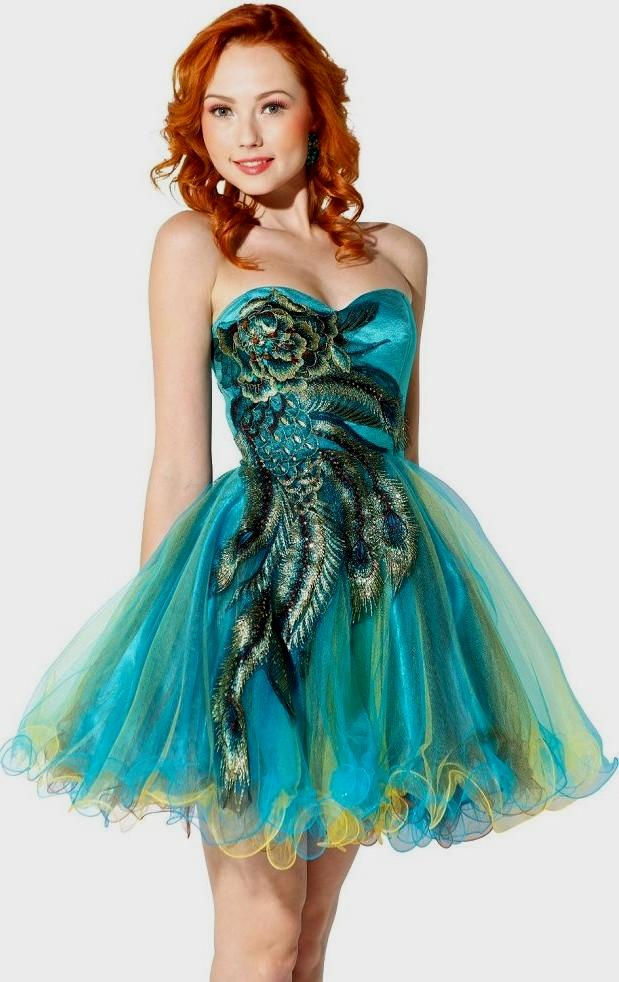 turquoise elegant dresses photo - 1