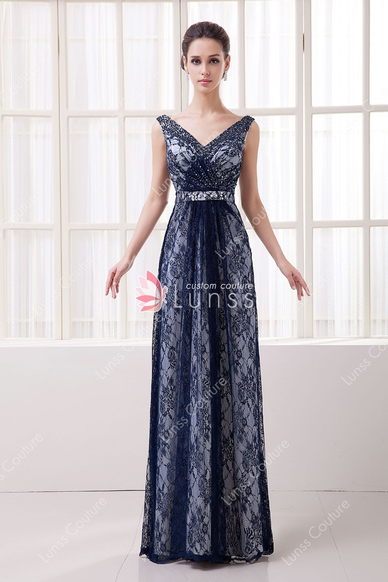 vintage evening dresses lace photo - 1