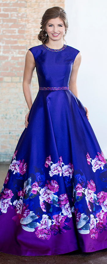 vintage style long evening dresses photo - 1