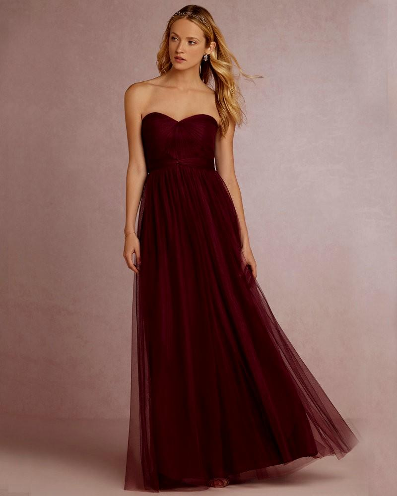 wine colored evening dresses photo - 1