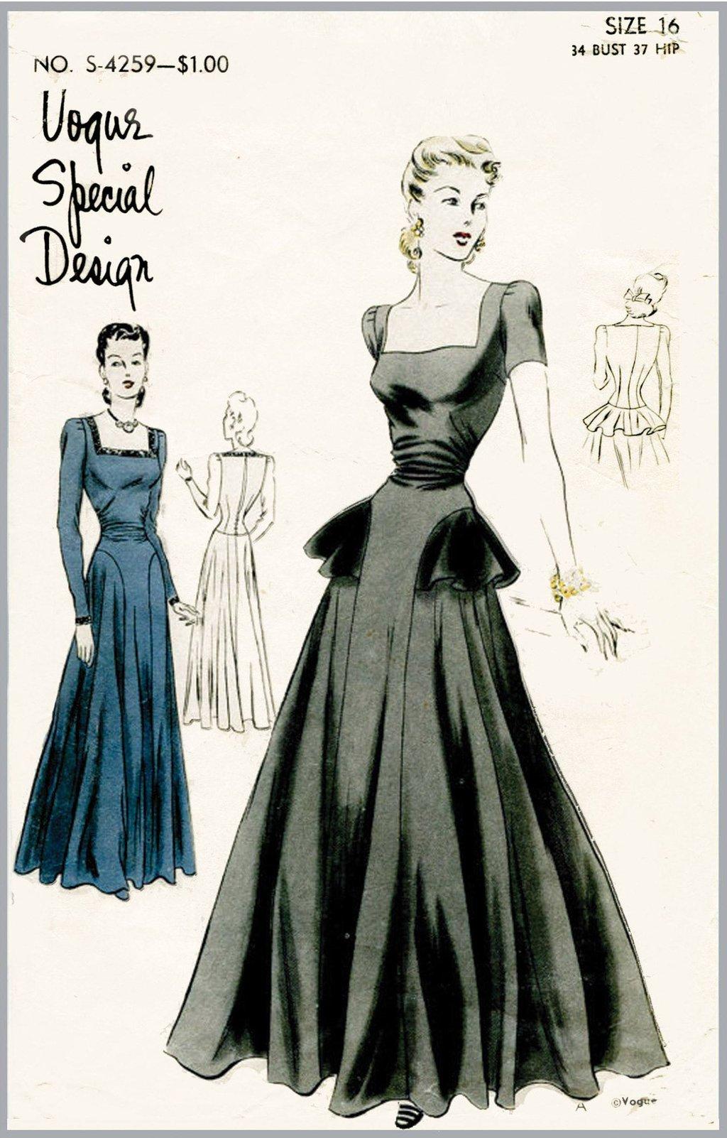 1940s evening dress photo - 1