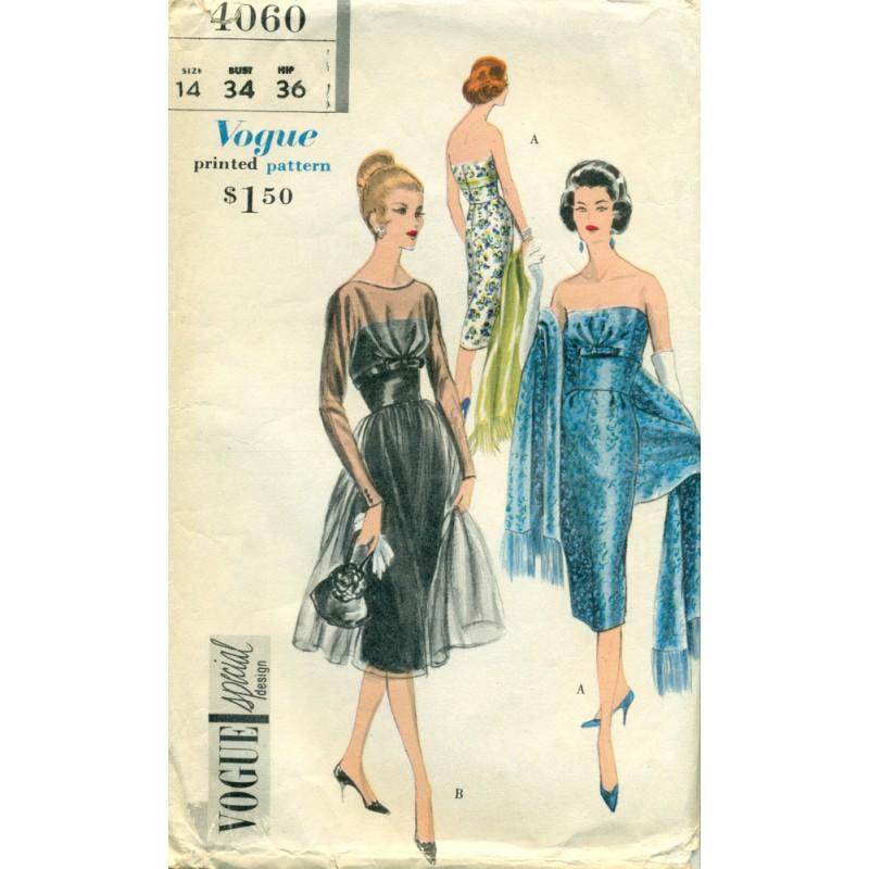 1950 evening dress photo - 1