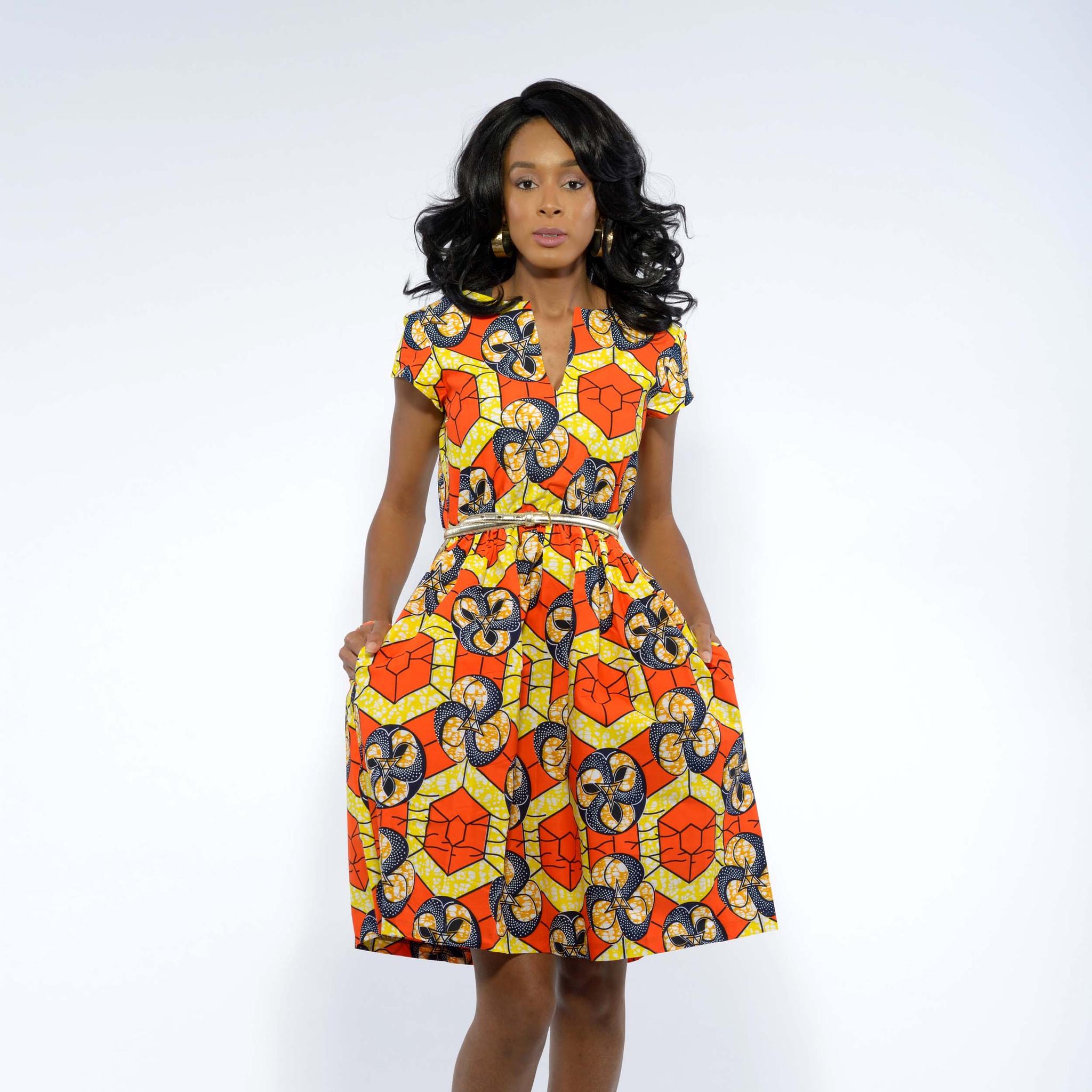 african print evening dresses photo - 1