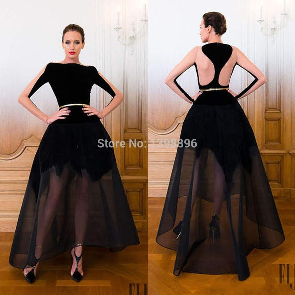 ankle length evening dresses with sleeves photo - 1