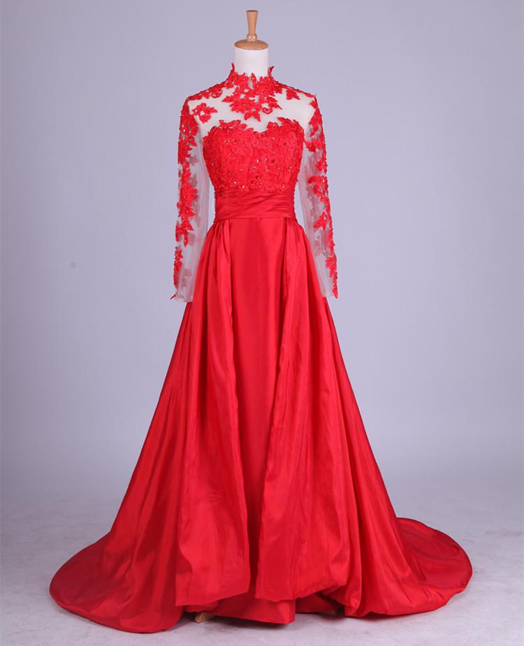 beautiful red dresses evening photo - 1
