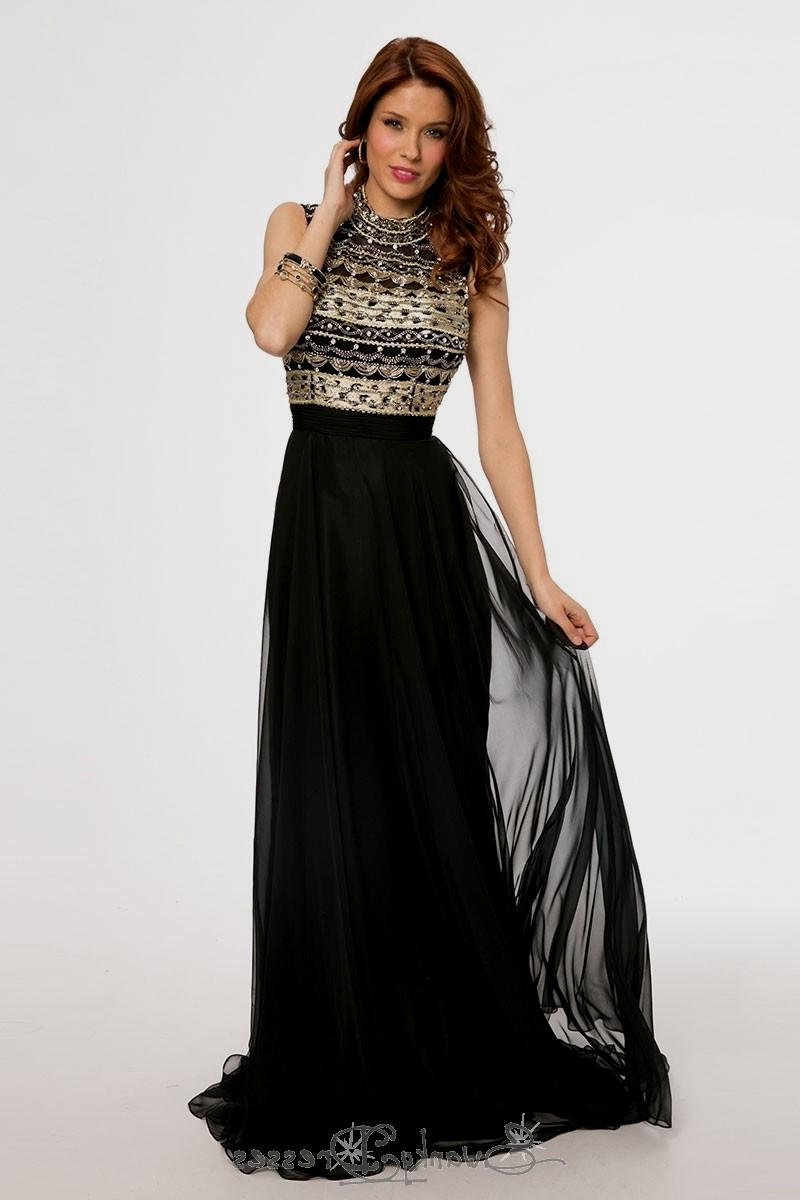 black and gold evening dresses photo - 1