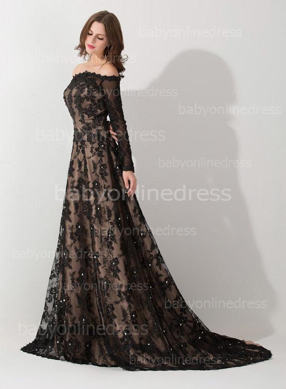 black and white evening dresses photo - 1