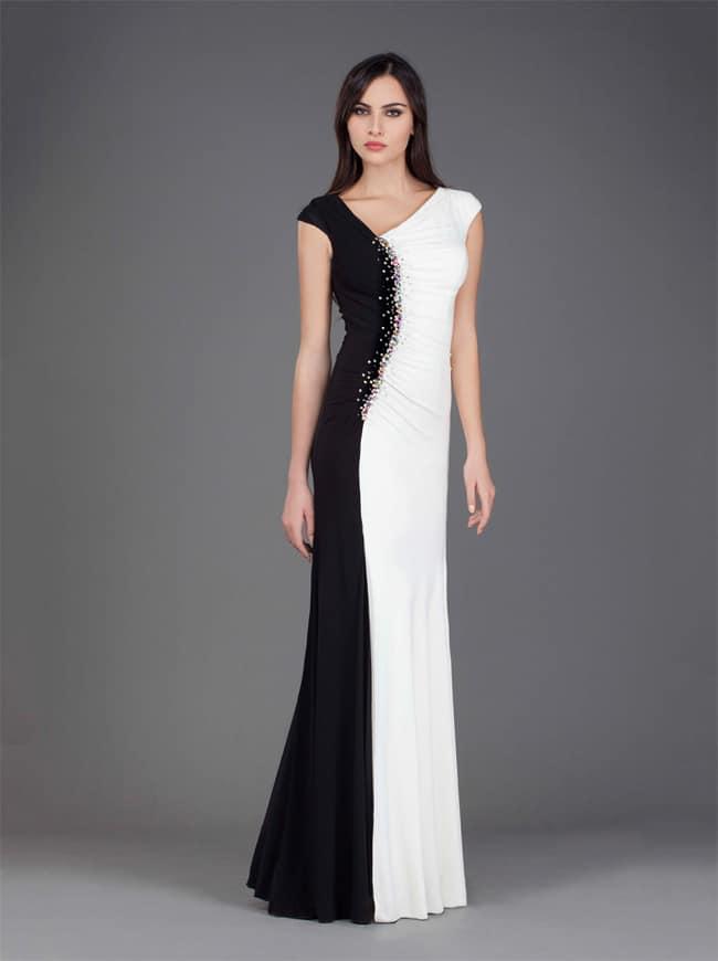 black formal evening dress photo - 1