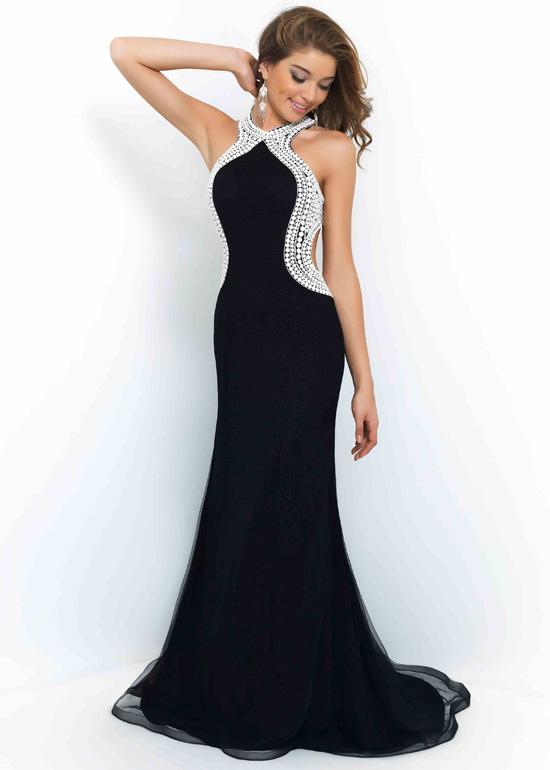 black white evening dresses photo - 1