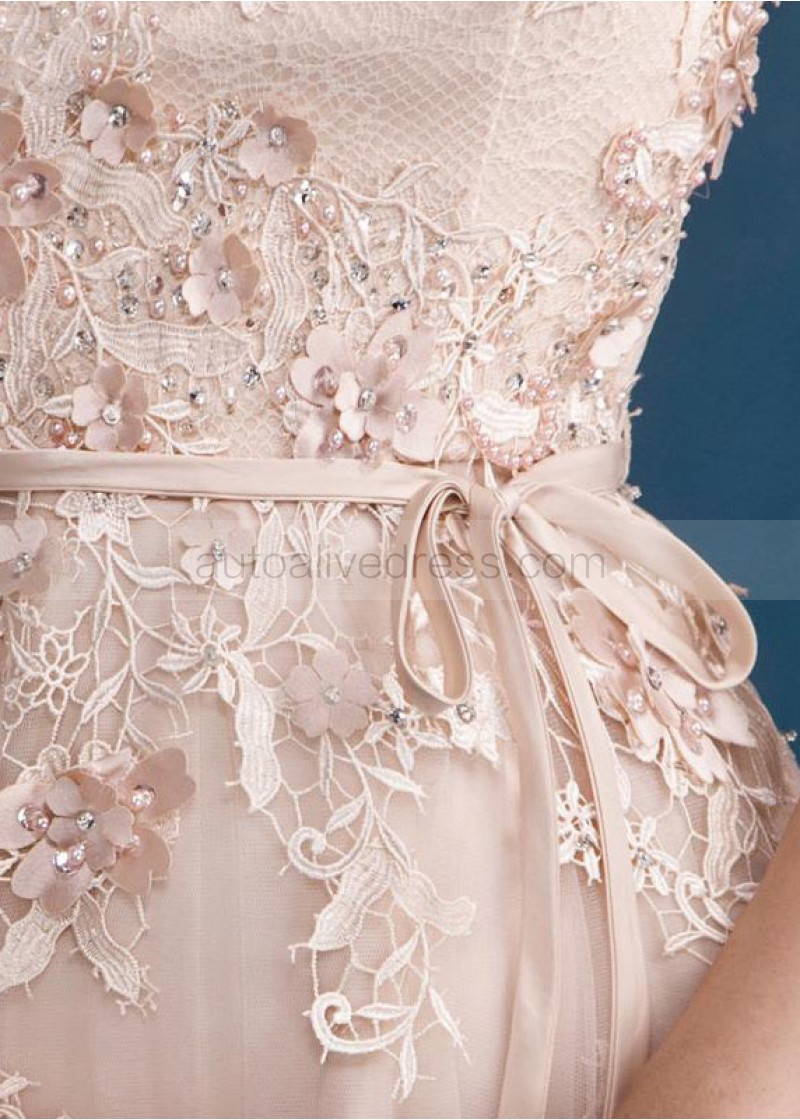 blush evening dress photo - 1
