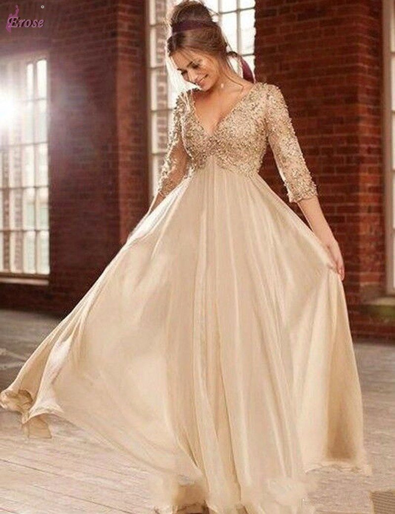 champagne coloured evening dresses photo - 1