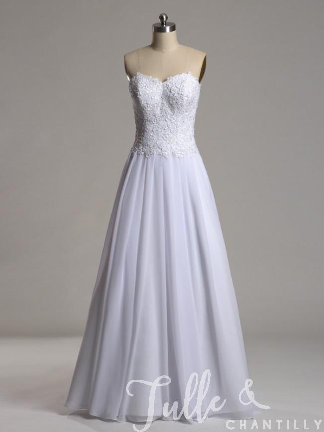 chiffon evening dress with sleeves photo - 1