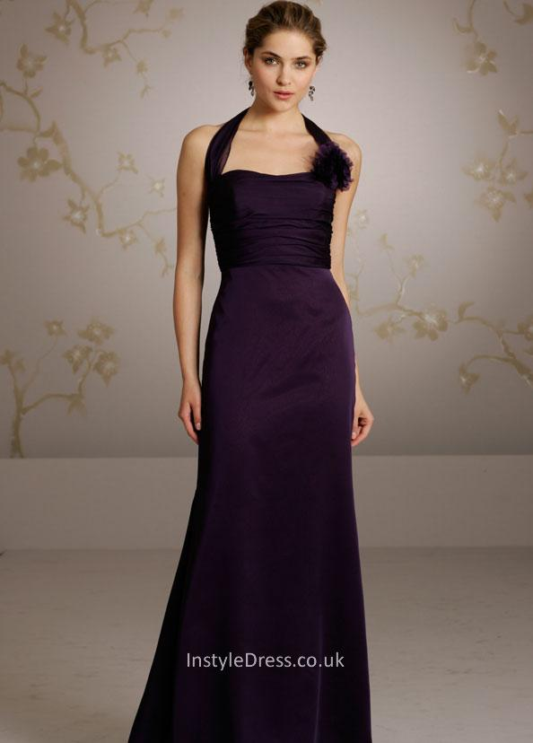 dark purple evening dress photo - 1