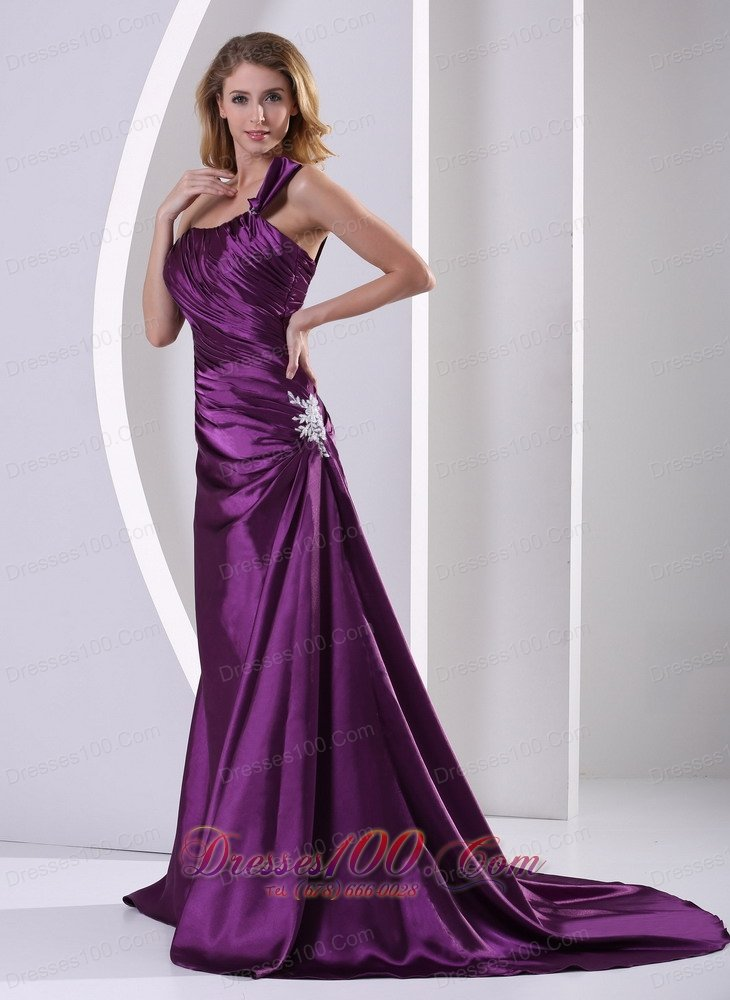 eggplant evening dress photo - 1