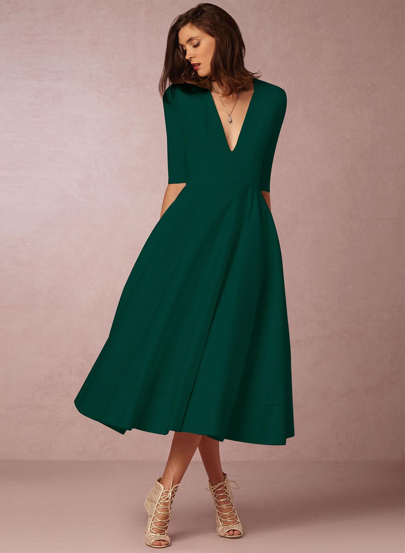 elegant a line dresses photo - 1
