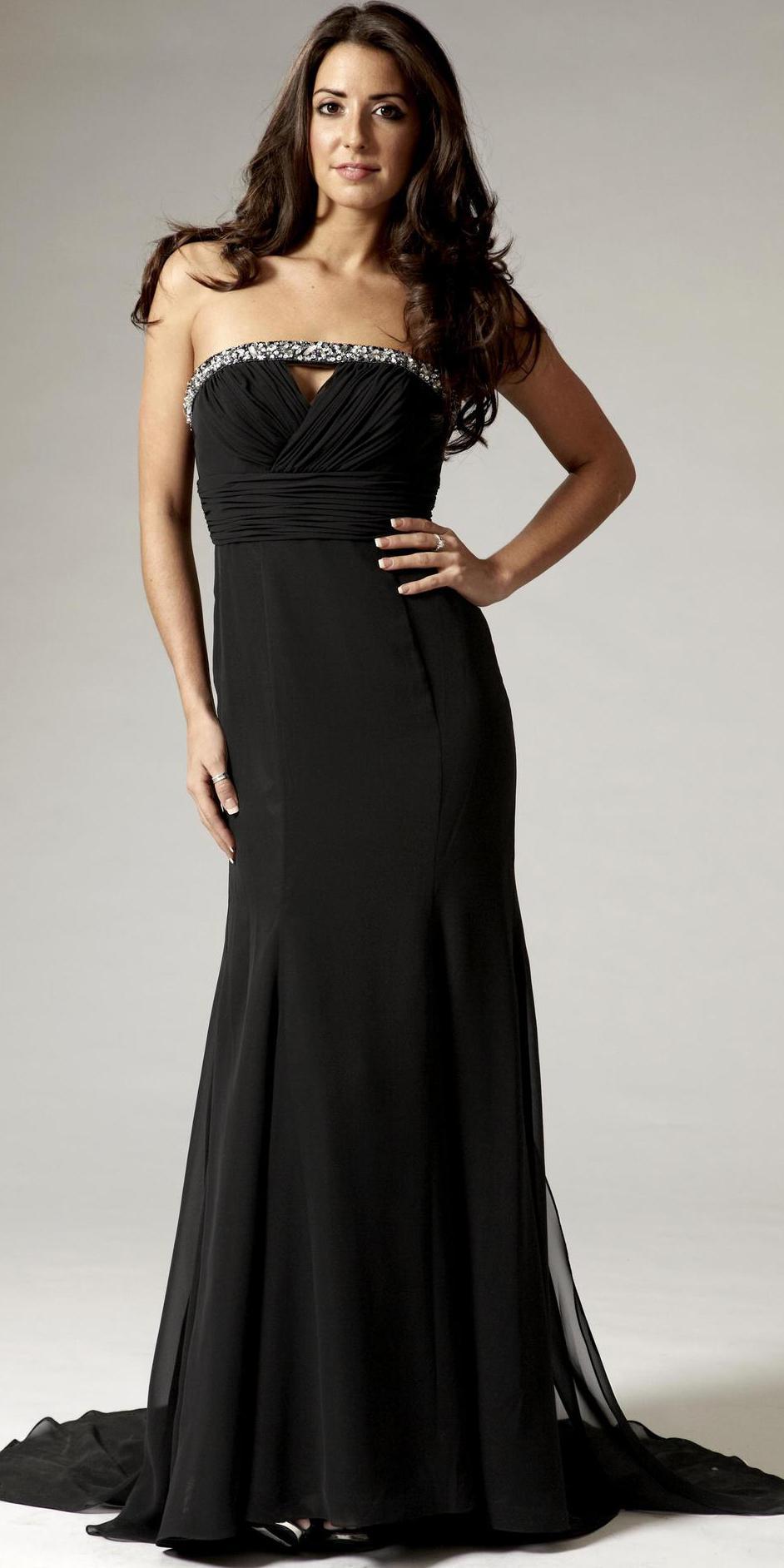 elegant black evening dresses photo - 1
