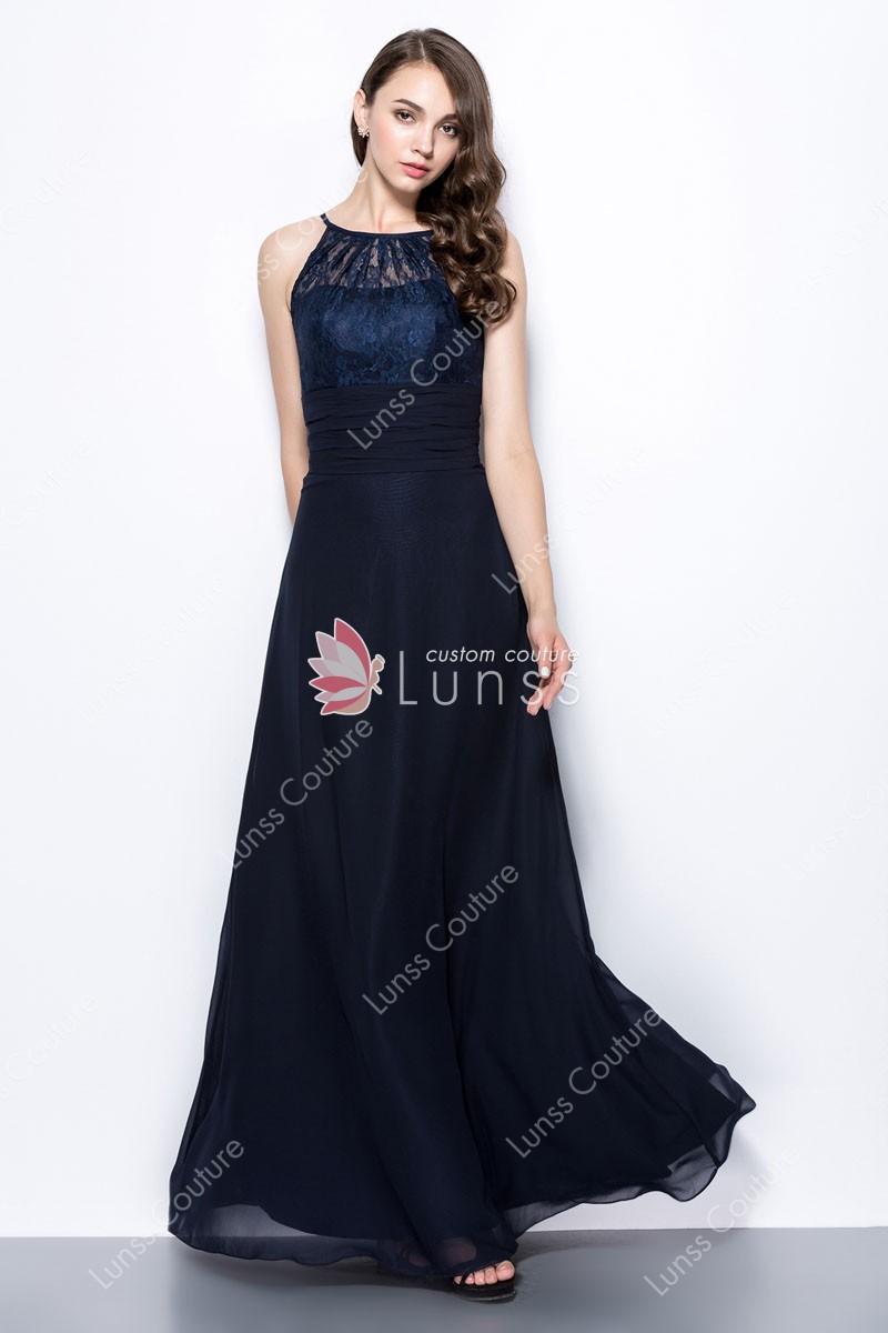elegant chiffon evening dresses photo - 1