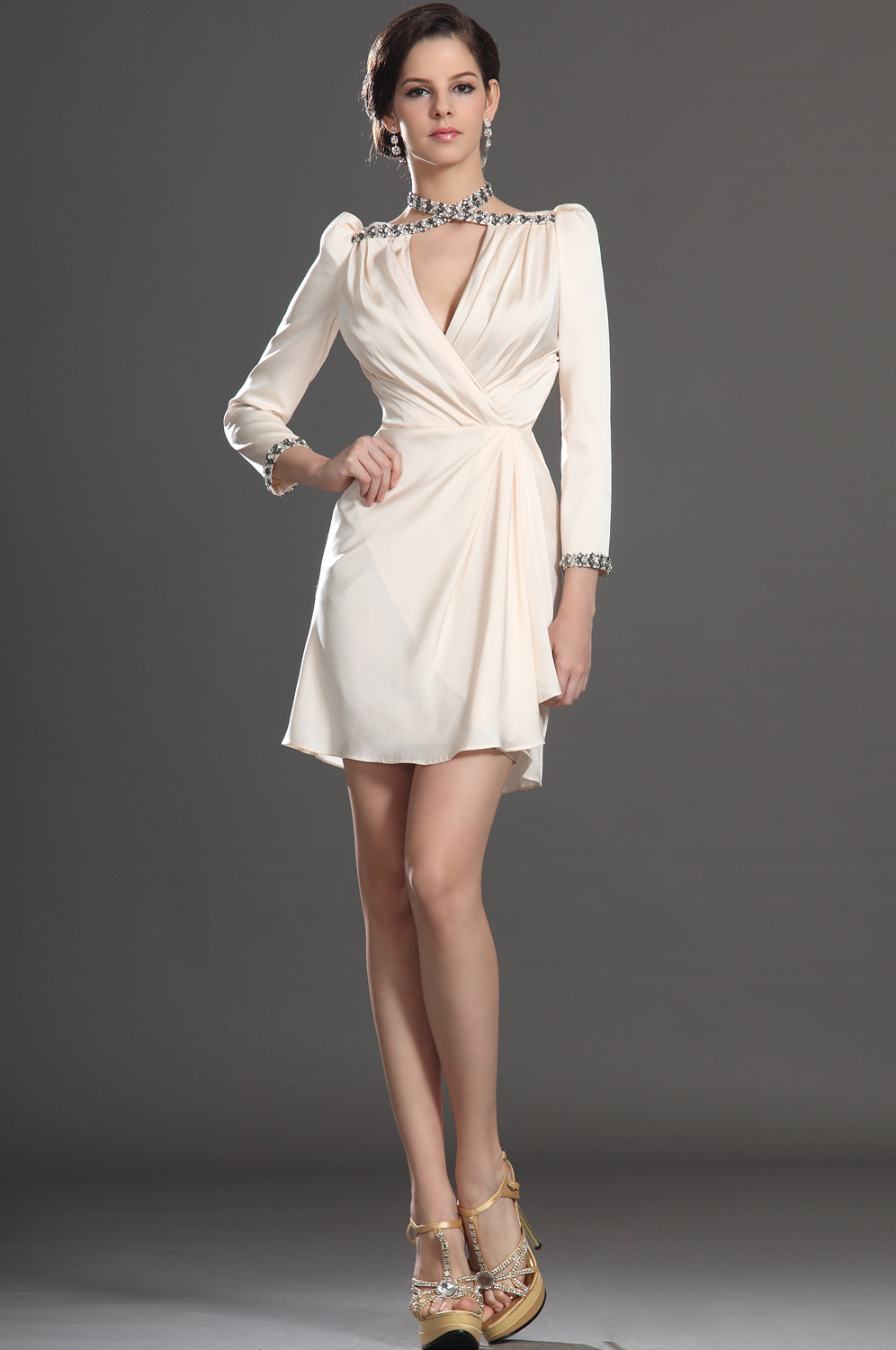 elegant cocktail dresses with sleeves photo - 1