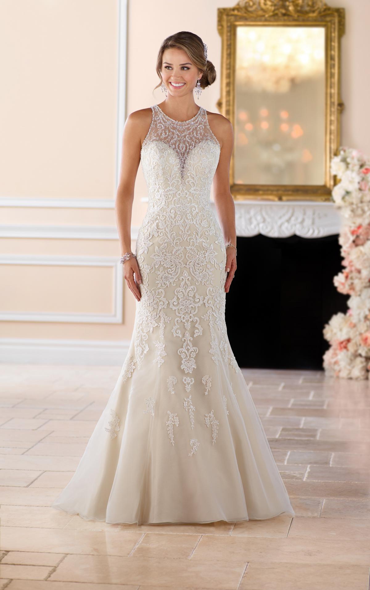 elegant fitted wedding dresses photo - 1