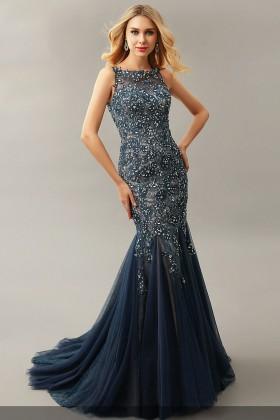 elegant grey dresses photo - 1