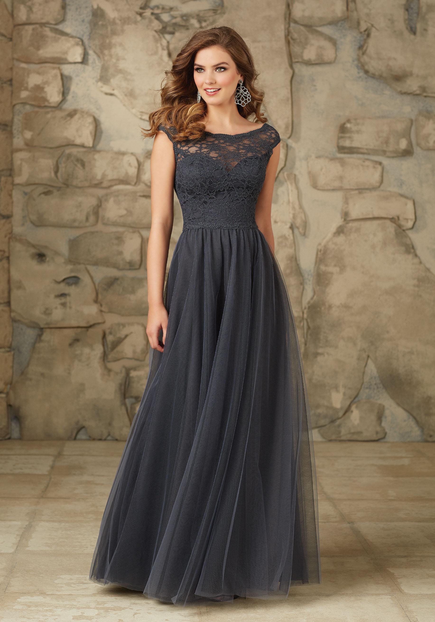 elegant lace bridesmaid dresses photo - 1