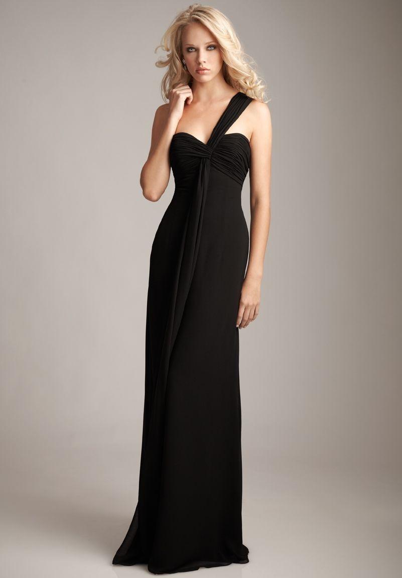 elegant long black dresses photo - 1