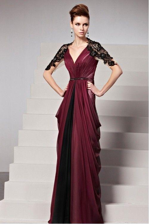 elegant maroon dresses photo - 1