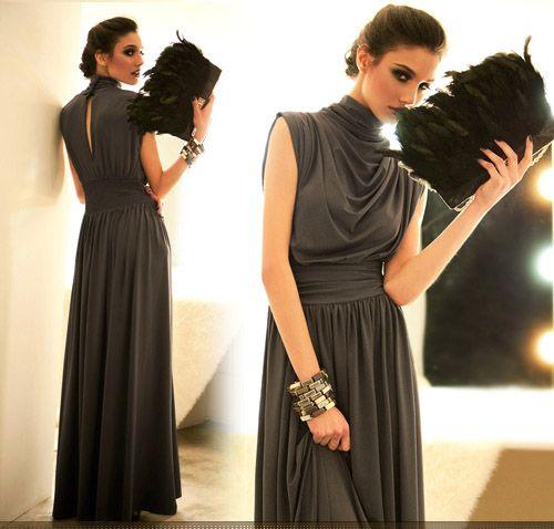 elegant maxi dresses with sleeves photo - 1