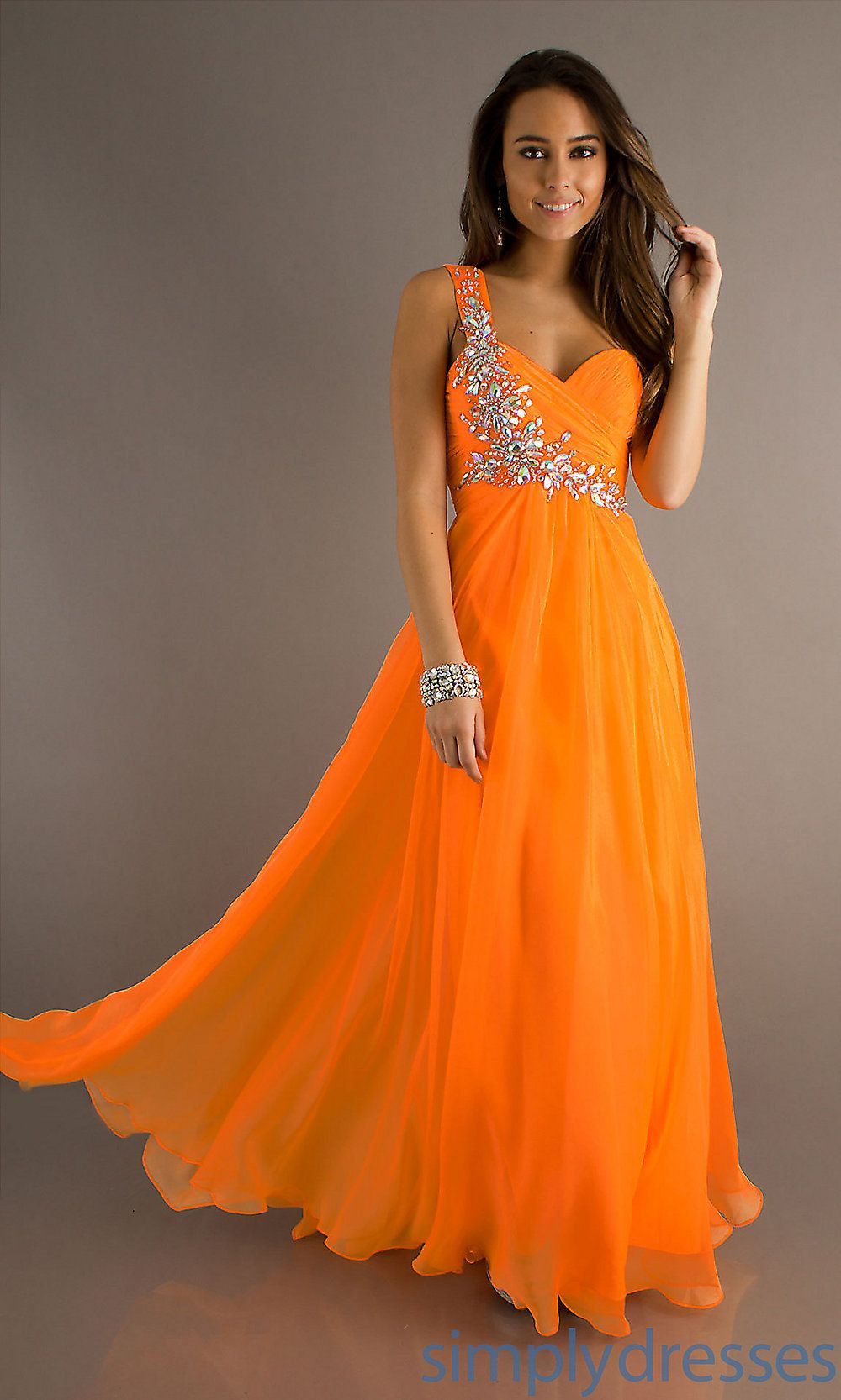elegant orange dresses photo - 1