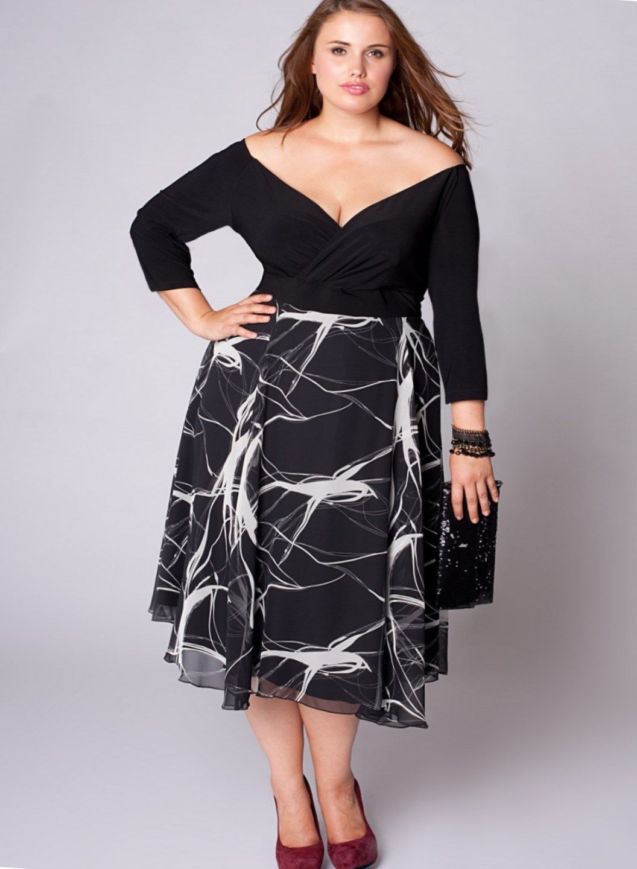 elegant plus size dresses photo - 1